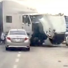 The Heart-Stopping Moment a Woman Saves Her Baby From a Truck