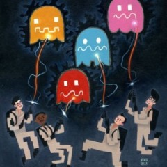 GhostBusters Vs Pac-Man & More Geek Art