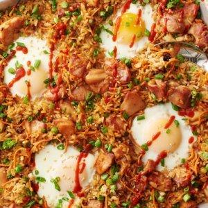 Simple Sheet-Pan Chicken Fried Rice